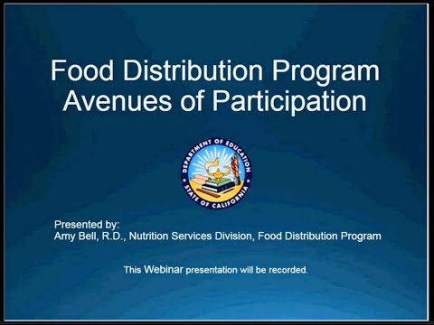 CDE Food Distribution Program: Avenues of Participation