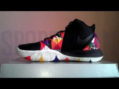 """Баскетбольные кроссовки Nike Kyrie 5 """"Black/Multi-Color"""" АО2929-606 (Реплика А+++)"""