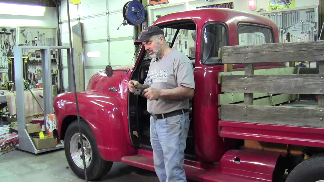 hight resolution of 1947 1954 chevrolet pickup door hinge restoration