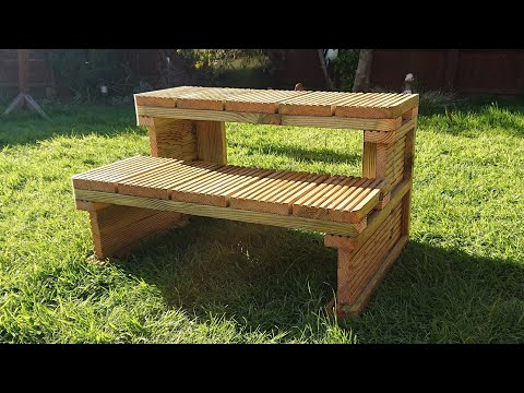 Making Wooden Steps With Decking For A Caravan/Hot Tub - #012