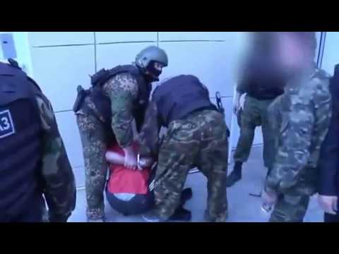 Russian special forces during detection of a fugitive from prison.