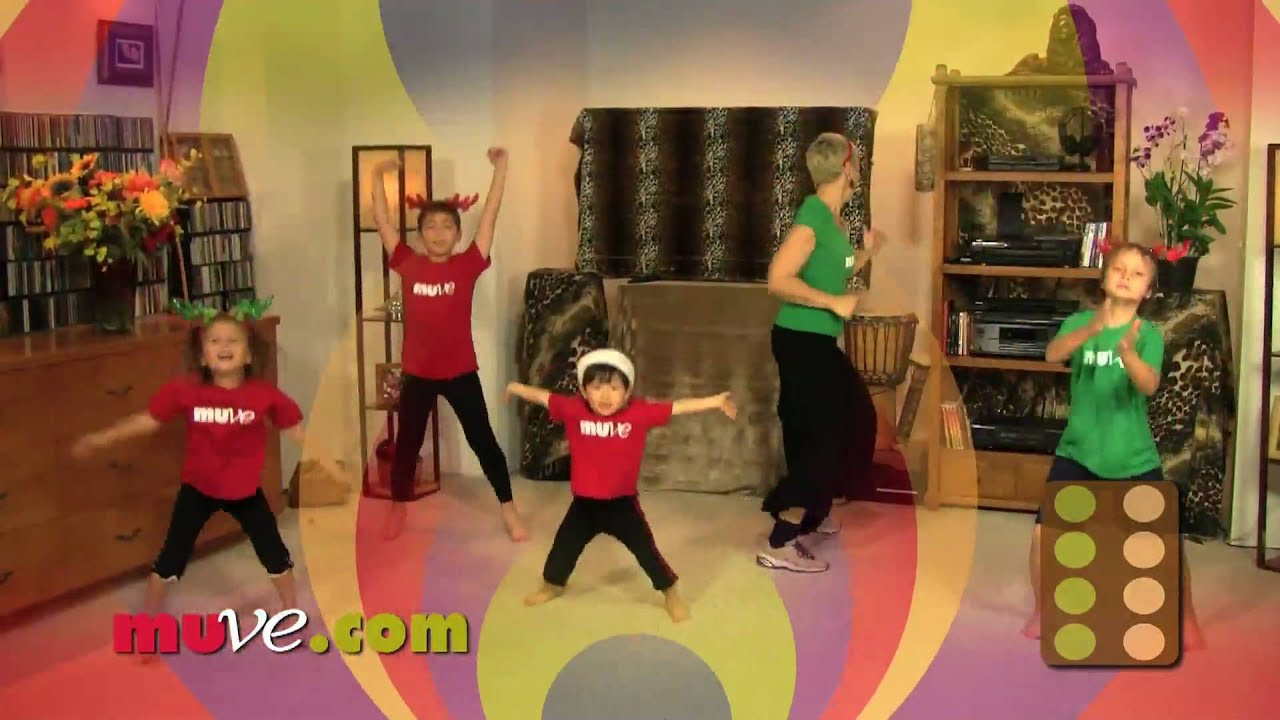 3 Year Old Santa Leads Family Exercise In Christmas Dance