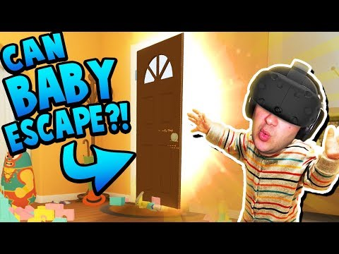 CAN BABY FIND THE SECRET TO UNLOCK THE FRONT DOOR?! | Baby Hands VR Gameplay