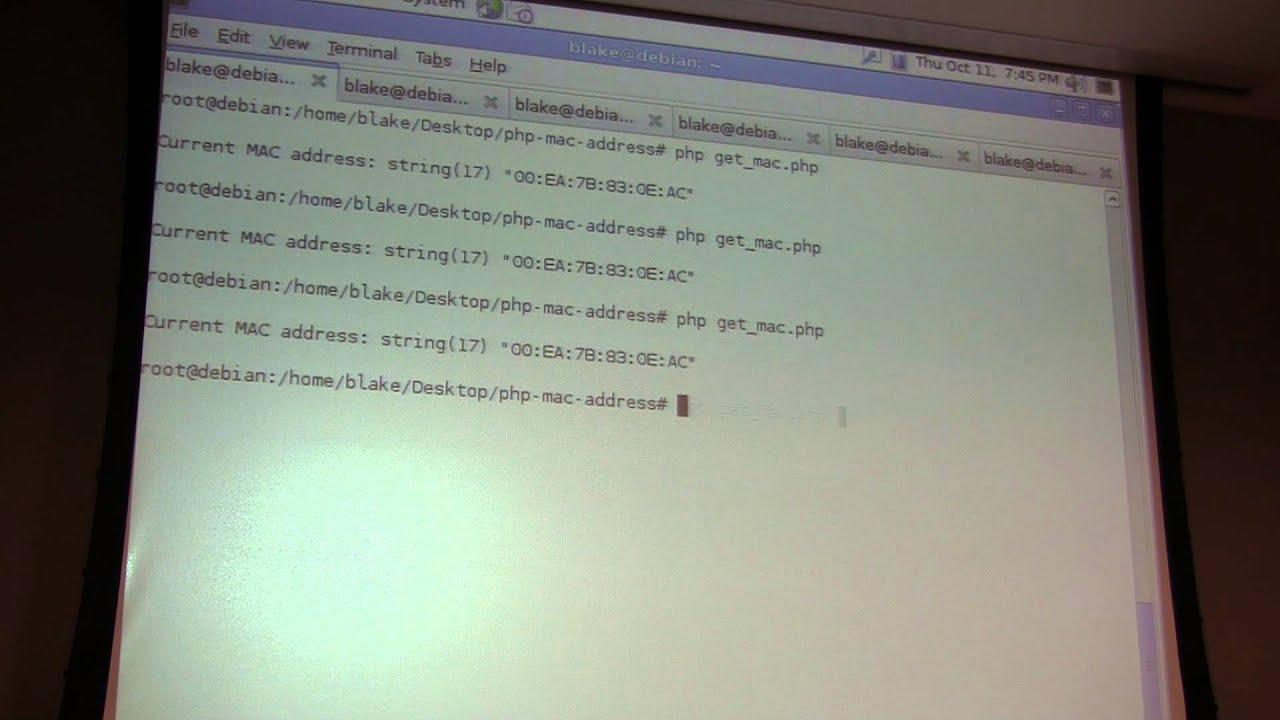 Austin PHP - MAC Address Class