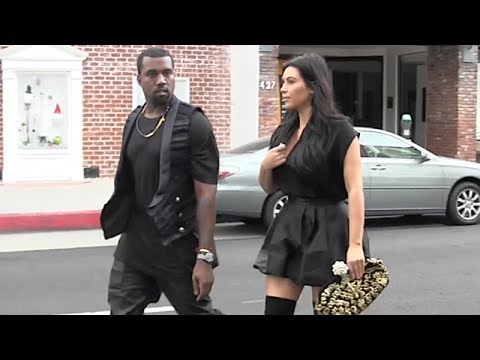 Kim Kardashian Is Super Sexy For Lunch Date With Kanye [2012]