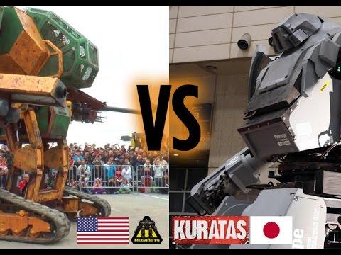 us vs japan mech fight
