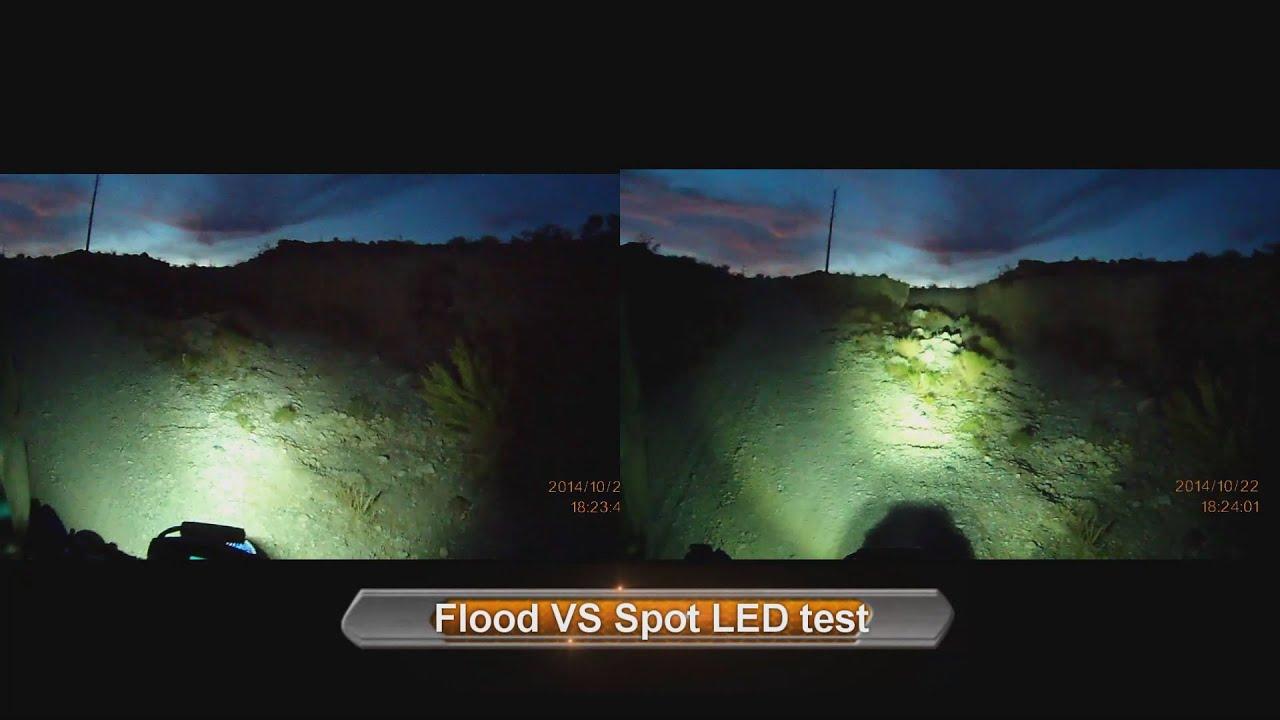 Flood Vs Spot Led Test Motorcycle Led Light 5qj8h Youtube