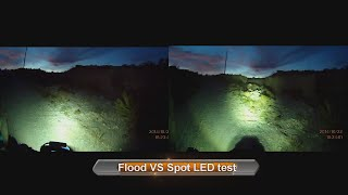 FLOOD VS SPOT LED TEST, Motorcycle LED Light 5QJ8H