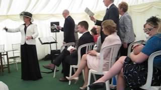 Pop-up choir at James & Alex's wedding