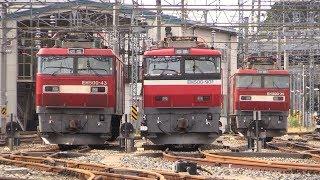 仙台総合鉄道部・東仙台信号場 EH500牽引貨物列車6本と機回し