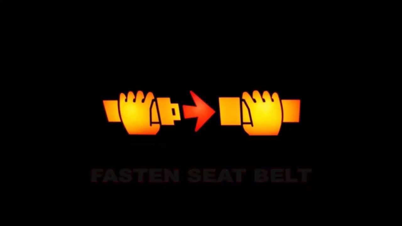 0ef43a2b Fasten seat belt - sound signal - YouTube
