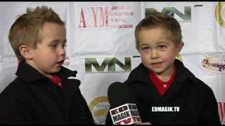 Morgan & Frank Gingerich Twins Interview at ASYM's Holiday Toy Drive Fundraising Extravaganza