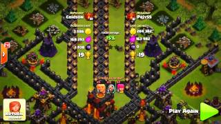 Clash Of Clans-INSANE&NEW TROLL BASE-!-! FIRE TUNNEL DEFENSE!!)& Funny Moments+LVL 100+ FAILS!!