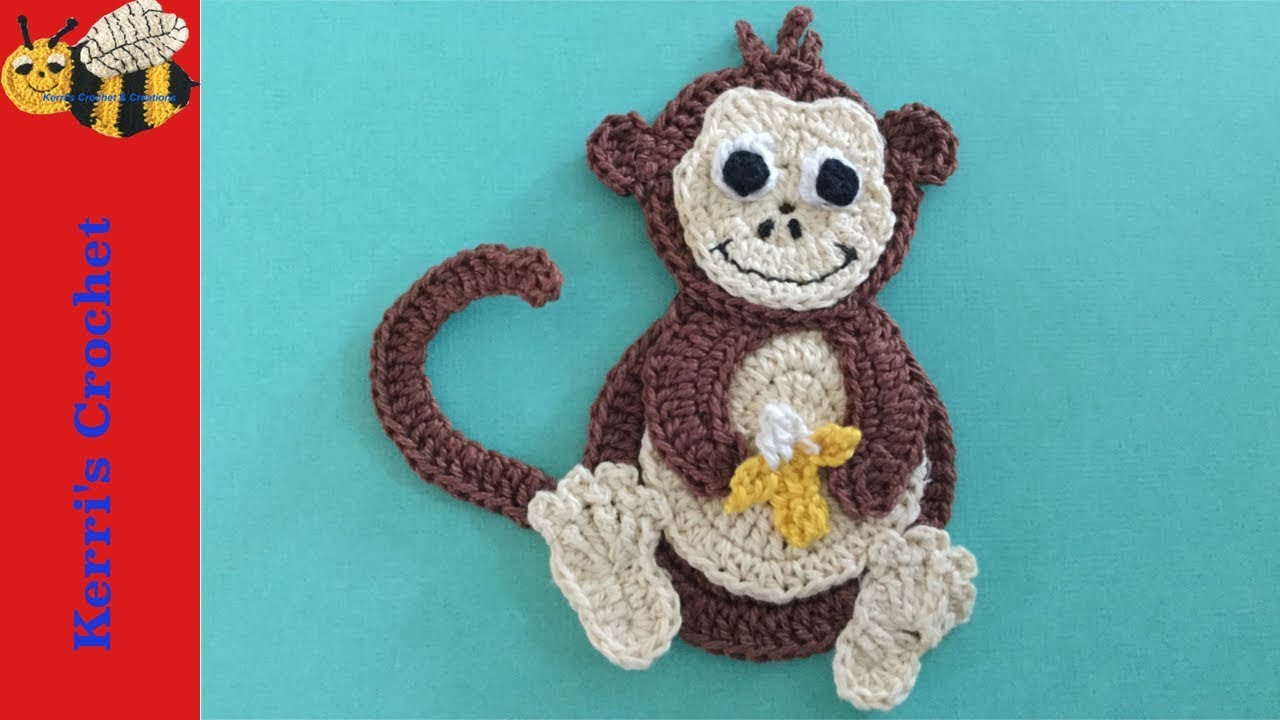 Crochet applique tutorials crochet monkey youtube
