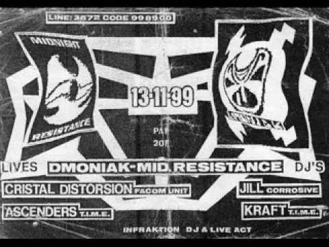 [Exclue BE] Ascenders - Live @ Dmoniak & Midnight Resistance Party in Dome St Ange - Face B - 1999
