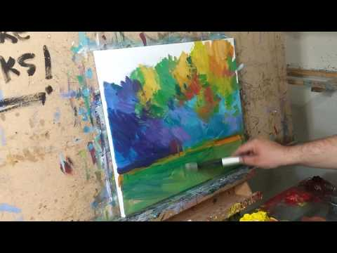 Impressionism Style Oil Painting Landscape Session, Demo, by Artist JOSE TRUJILLO