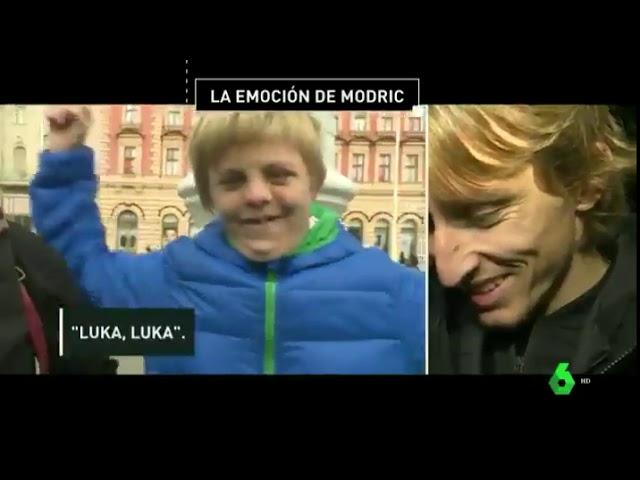 Luka Modric se emociona con aficionado especial