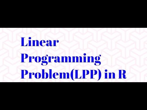 Linear Programming Problem (LPP) in R | Optimization | Operation Research