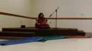 Suneetha singing in DFW temple
