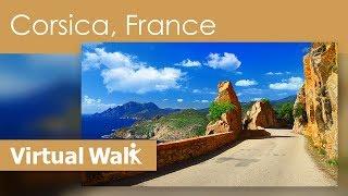 Virtual Walk Corsica, France - Coastal Nature Scenery And Ocean Sounds