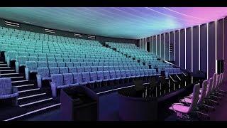 Концепция сценариев освещения интерьера зала Президиума. Университет Пирогова.