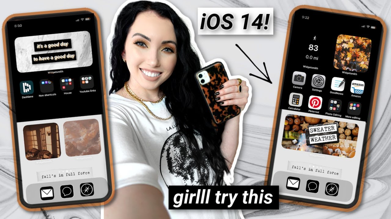 *aesthetic iOS 14 TUTORIAL* MUST DO! easy step-by-step themed iPhone background