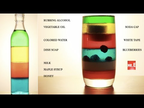 Amazing  7 Layer Liquid Stacking! (How To) Denser Than You Think