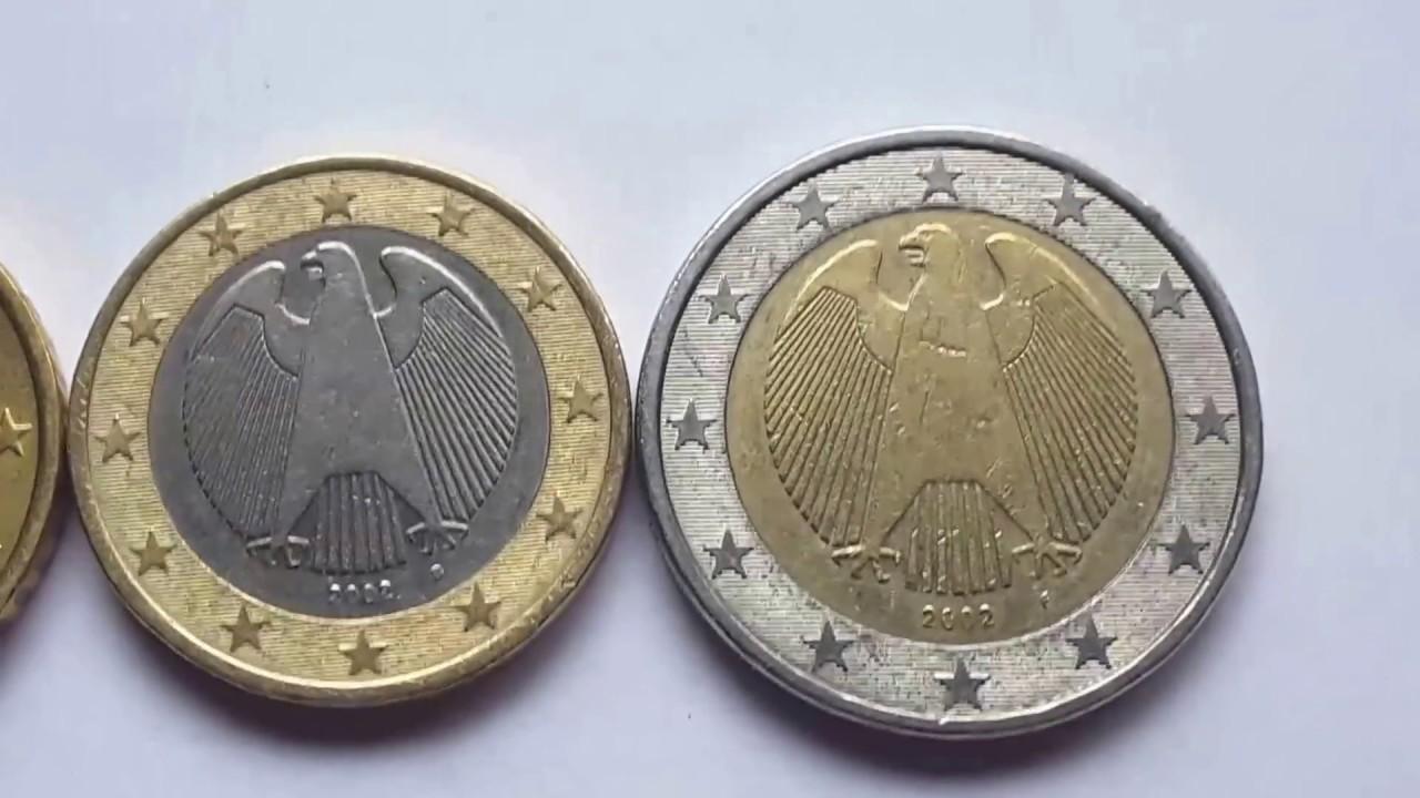 German Euro coins - YouTube