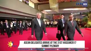 ASEAN leaders arrive at the 31st ASEAN 2017 Summit Plenary