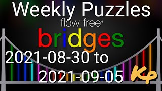 Flow Free Bridges - Weekly Puzzles - Extreme Courtyard Spin - 2021-08-30 09-05 - Aug 30-Sept 5 2021 screenshot 3
