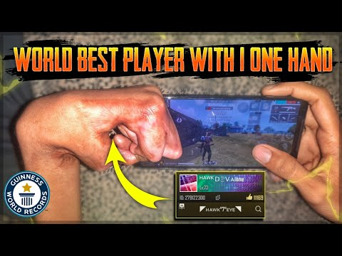 India's Real No.1 FreeFire Player With Only One Hand  - Dev Alone