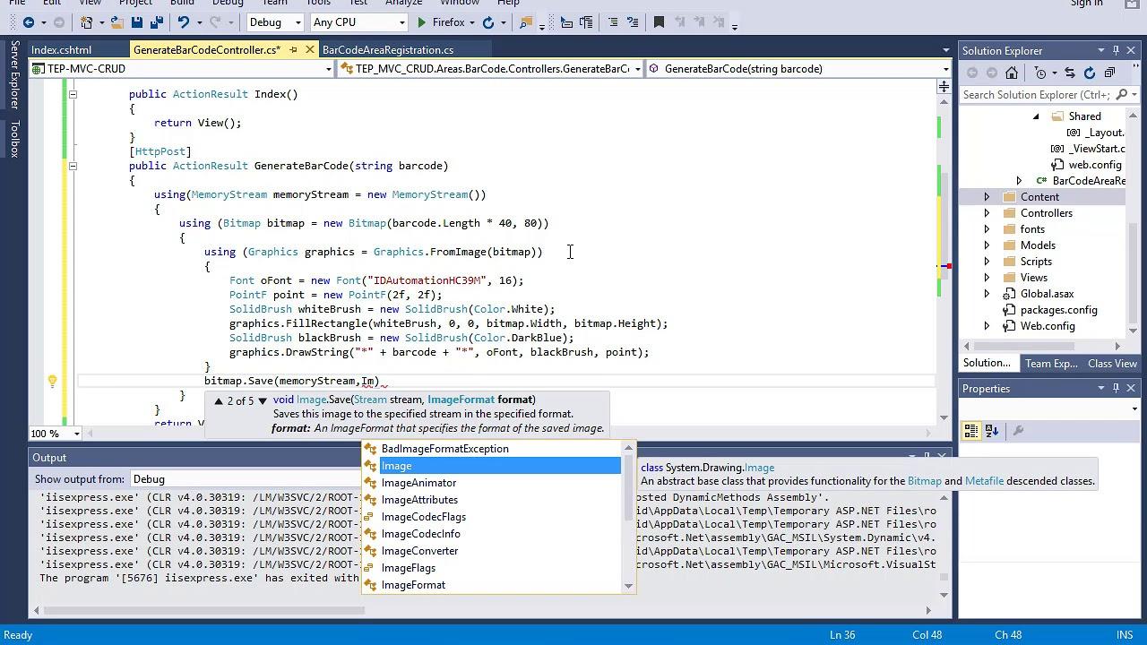 55 ASP  NET MVC - BarCode Reader and Writer Application - Part 2