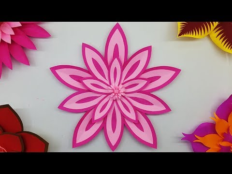 Paper Flower Backdrop for Wall Decorations and Free Template