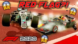 F1 2020 Game: Can we get a RED FLAG? 9 Car DSQ Monaco Crash & NEW AI Mistakes & Behaviour!