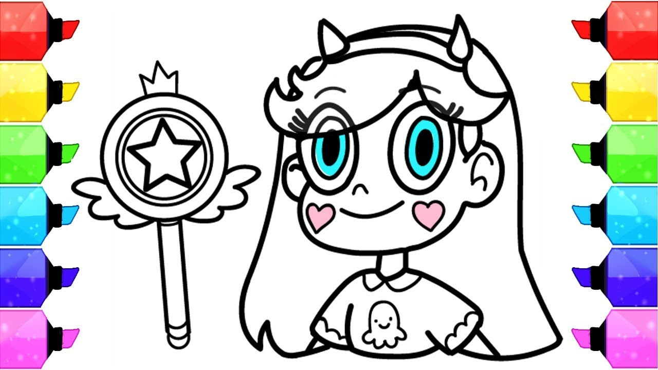 How to Draw Star vs the Forces of Evil Coloring Pages | Learn Art ...