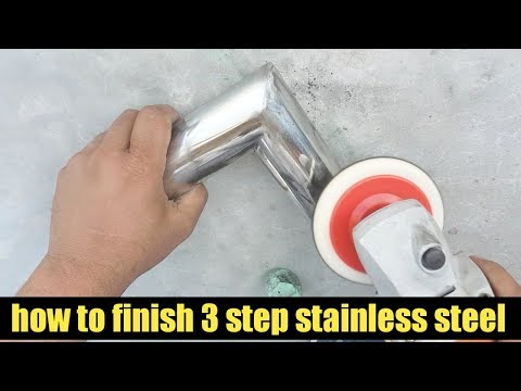 how to finish a welded stainless steel pipe