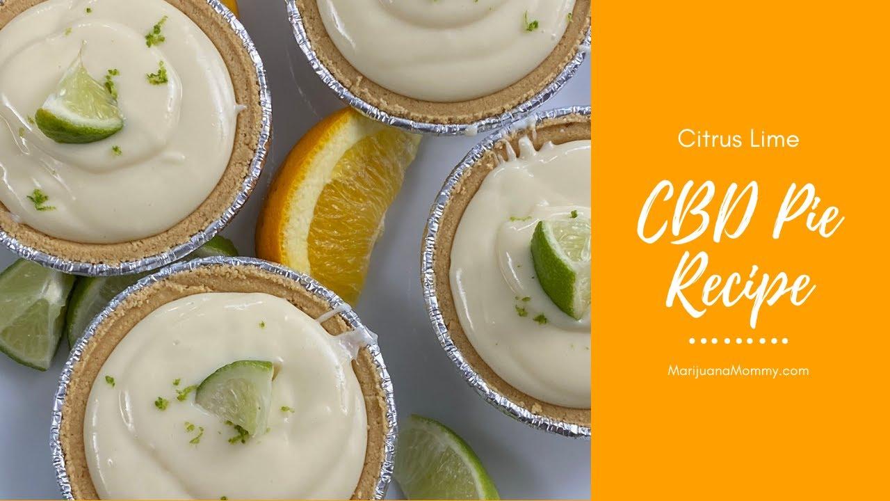 How to Make Citrus Lime CBD Pie (No-Bake Edibles)