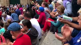 La Agrupación Musical da Limia, en la praza de Praterías