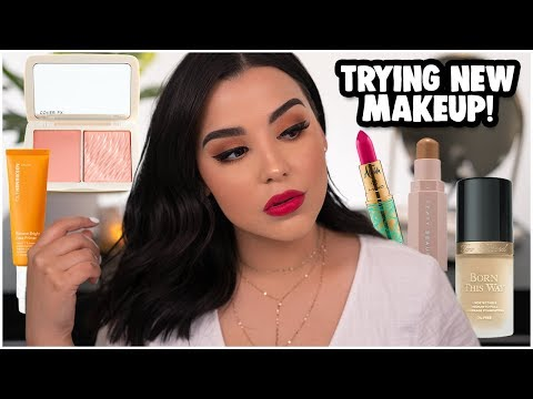 FIRST IMPRESSIONS MAKEUP TUTORIAL: TRYING NEW MAKEUP PRODUCTS 2019! | MakeupByAmarie thumbnail