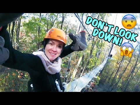 😳 ZIP LINING IN THE MOUNTAINS 1,100 FEET IN THE AIR! 😱 DON