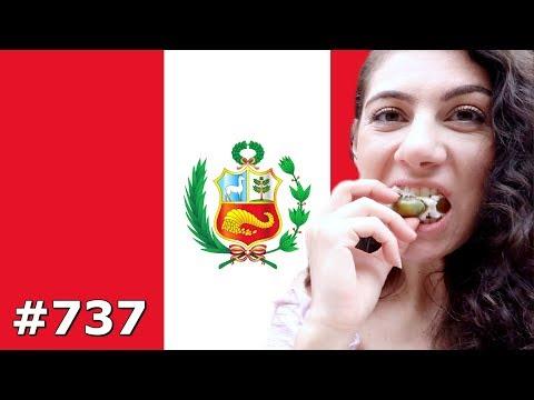 TRYING NEW FOOD & BIKE TOUR LIMA PERU DAY 737   TRAVEL VLOG IV