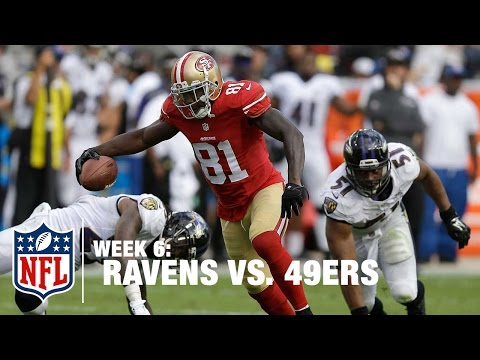 Kaepernick Scrambles & Finds Anquan Boldin for a 51-Yard Play! | Ravens vs. 49ers | NFL