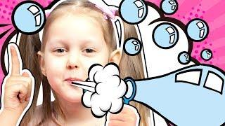 В Мыльном Пузыре Гиганте Амелька с подружкой делают необычные мыльные пузыри