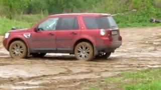 LR Freelander 2 в небольшой грязи часть 2 (Freelander 2 in a small mud. part 2)