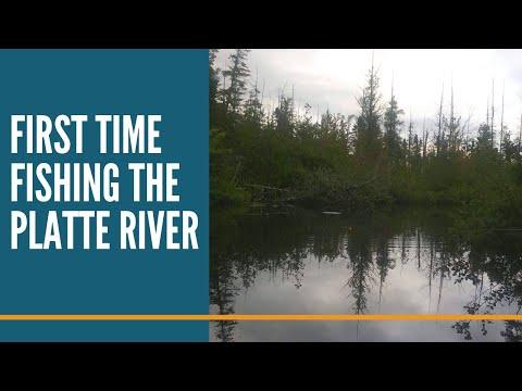 First Time Fishing The Platte River Honor Michigan // Fishing Michigan Rivers