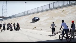 BMX VS CRAZY CAR GUY