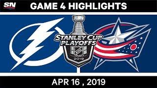 NHL Highlights Lightning vs Blue Jackets, Game 4 - April 16, 2019
