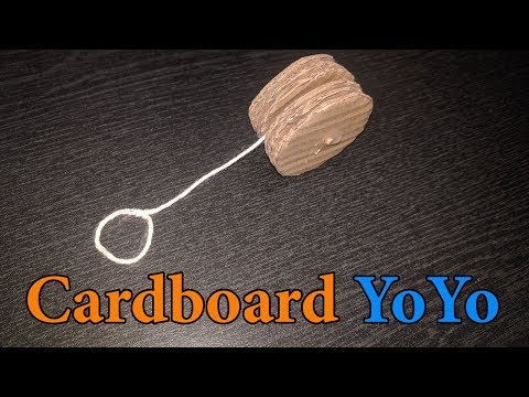 How to Make Cardboard Yoyo at Home | DIY Cardboard Yoyo