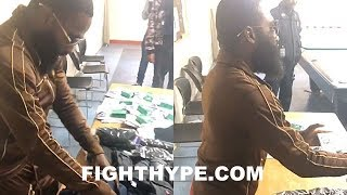 ADRIEN BRONER VISITS HOMELESS SHELTER; GIVES BACK TO THE NEEDY 72 HOURS BEFORE JESSIE VARGAS CLASH
