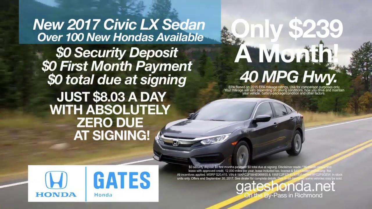 2017 Honda Civic LX Sedan at Gates Honda in Richmond, KY - YouTube